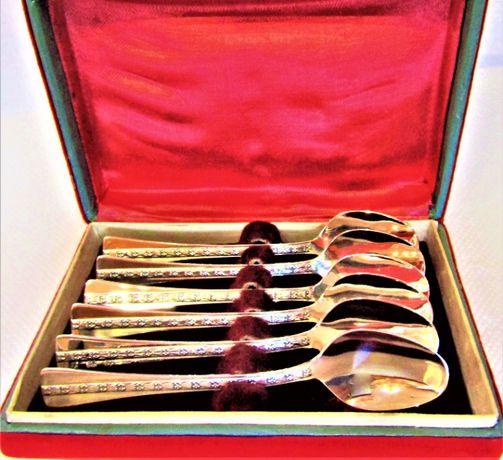 Ложки чайные серебро набор 6 шт. 916 проба, централь, Таллин.