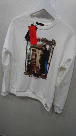 Nowa świąteczna biała bluza damska sweter świąteczny M 38 reserved