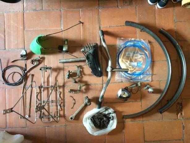 Conjunto Peças Bicicleta Pasteleira yé-yé antiga, clássica + Extras