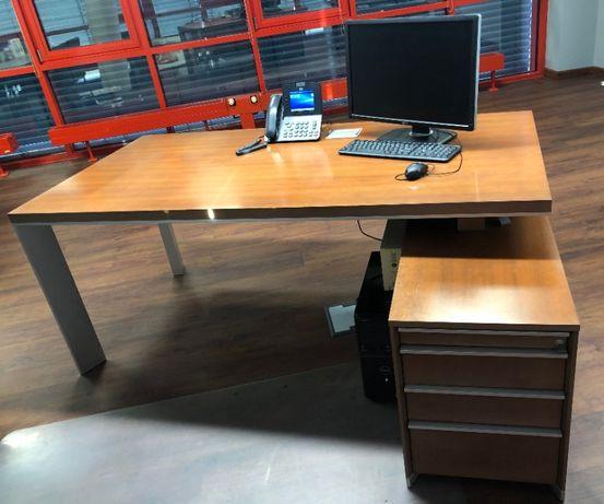 biurko do gabinetu OKLEINA NATURALNA Czereśnia OKAZJA !