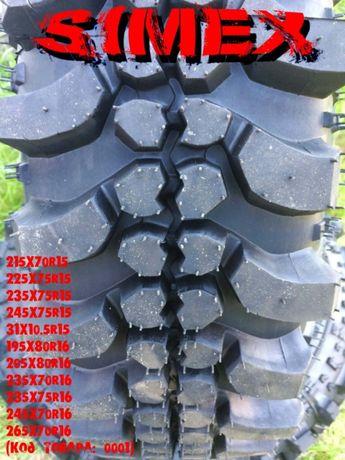 Шины 4х4 на УАЗ НИВУ Simex 195/80R16_245/75R15_265/70R16_31/10.5R15