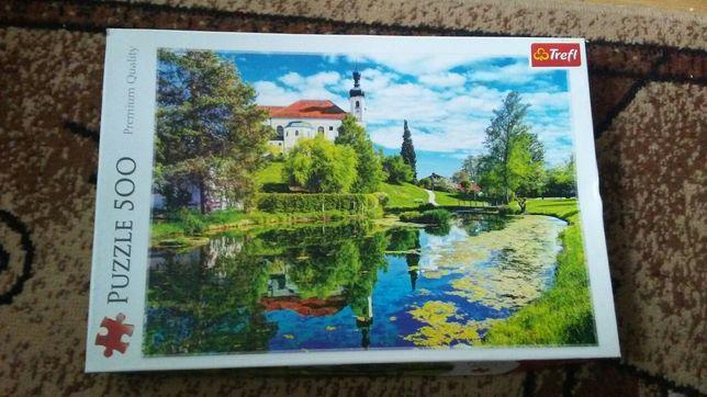 Puzzle 500 jezioro Chiemsee, Bawaria
