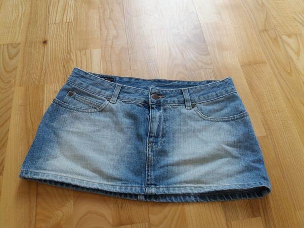 aktualne! jeansowa mini spodnica xs s biodrowka cross jeans