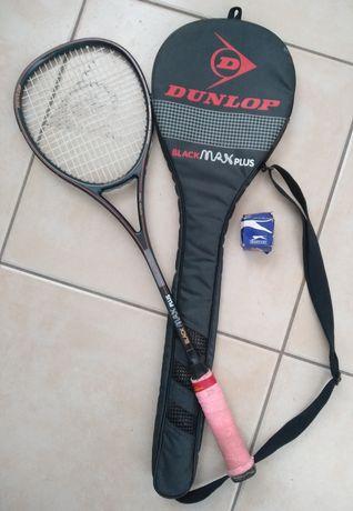 Raquete de Squash + capa da marca Dunlop