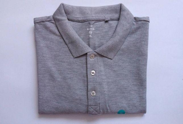 Koszulka Polo Męska Szara T-shirt Nowy