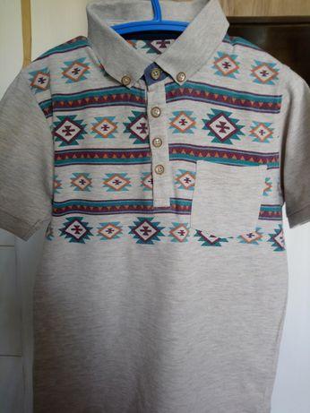 Продам футболку поло на мальчика 8-9лет рост 146