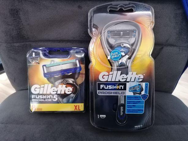 Zestaw Gillette Fusion Proshield + Wkłady Gillette Proglide 8 szt.