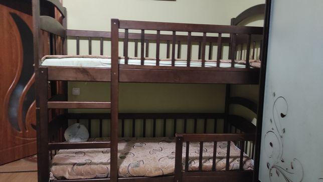 Ліжко двоярусне 80х190