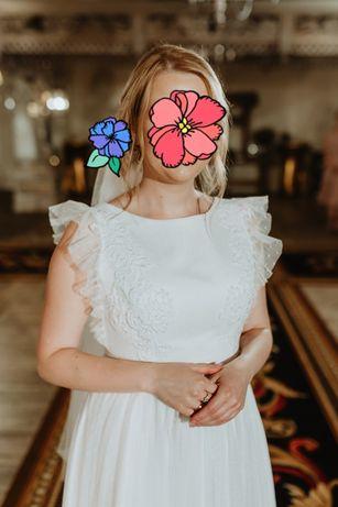 Piękna Suknia ślubna 36/38 hit boho