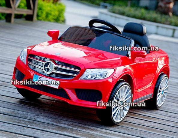 Детский электромобиль 3981 RED, Кожа, Дитячий електромобiль