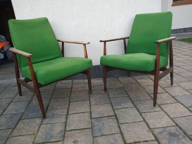 Fotel lisek fotele liski PRL 2sztuki para