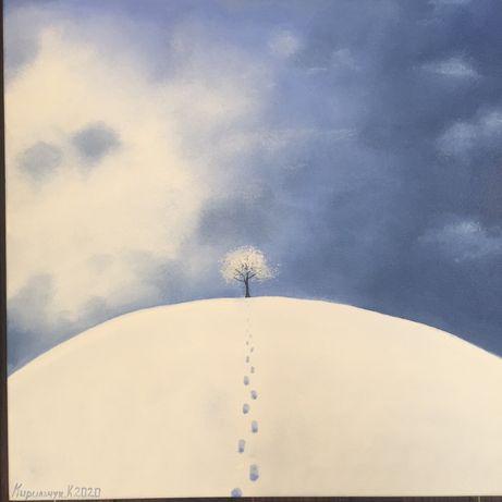 Картина маслом «Зима»