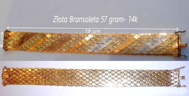 Złota Bransoleta 57 gram- 14k