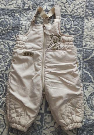Spodnie niemowlęce zimowe ocieplane r. 68