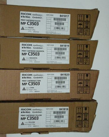 Okazja nowy toner RICOH MP C3503 oryginał komplet 841817 Black i inne