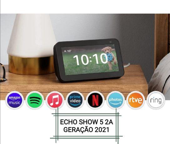 Vendo novo! Envio grátis! Echo show 5 2a geração. Amazon alexa echo