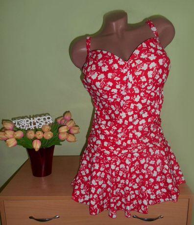 сплошной купальник платье 56-58 размер