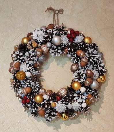 Новогодний, рождественский венок декор украшение новогоднее