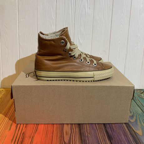 Кожаные утепленные ботинки Converse 37 размер Vans Nike puma lowa ecco