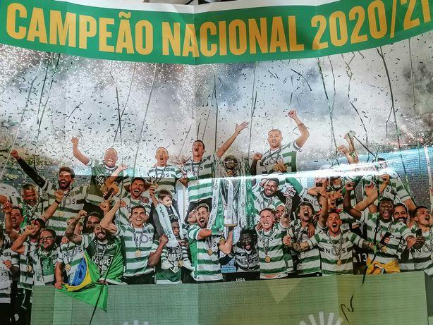 Poster Sporting Campeão Nacional  Ano 2020/2021