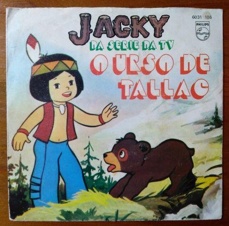 Disco em vinil da série da TV Jacky anos 70