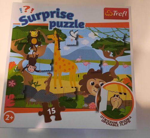 Puzzle Trefl Suprise z okienkami 15 szt