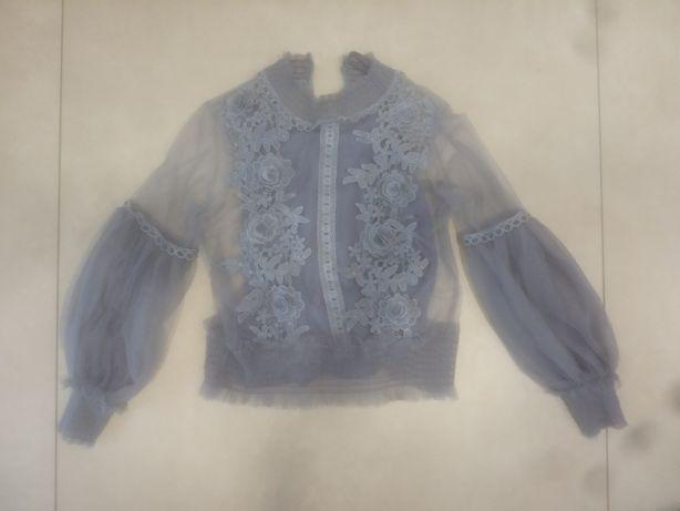 Bluzka bluzeczka gipiura koronka koronkowa