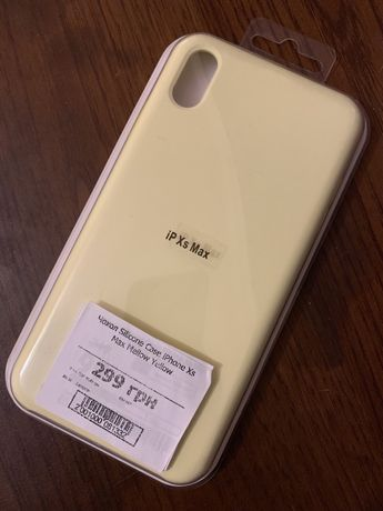 Чехол Silicone Case iPhone XS max Mellow Yellow