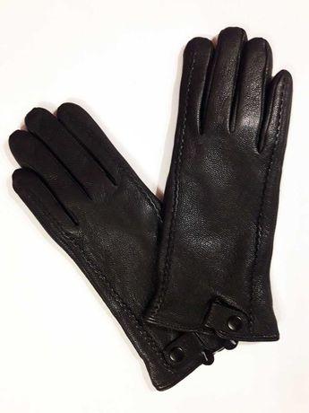 Перчатки новые, натуральная кожа, женские, черные, размер 8