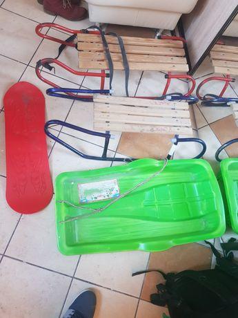 Sanki metalowe, plastikowe deska plastikowa