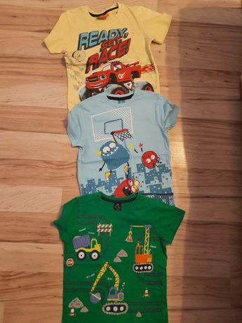3×t shirt chłopięcy 122