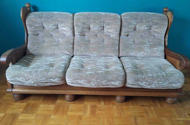 Komplet holenderski  sofa 3/2/1 + ława