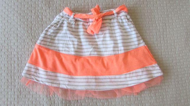 Neonowa spódnica Reserved rozm. 104