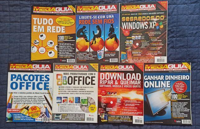 7 Revistas MegaGuia + 7 Discos (Para Coleção)