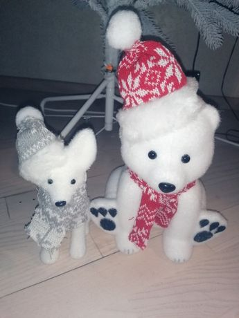 Игрушка мишка, волк. Декор. Подарок. Новый год. Медведь. Волк