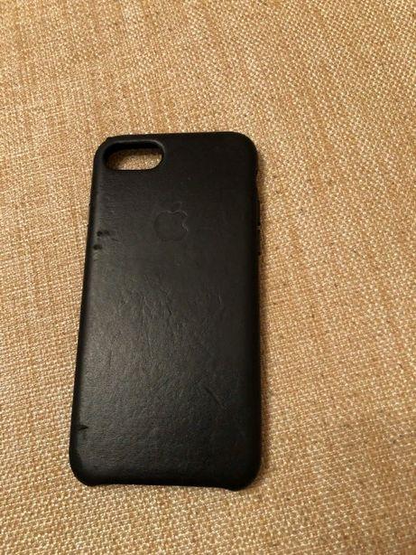 Чехол кожаный Apple Iphone Leather Case 7 8 SE 2020 оригинал
