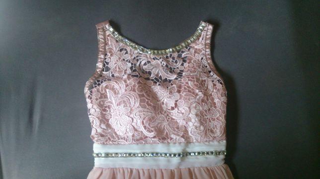 Pudrowa sukienka M