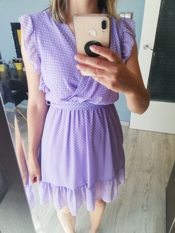 Sukienka lawendowa