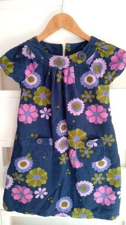 Sukienka sztruksowa 116