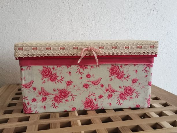 Caixa decorativa forrada com tecido