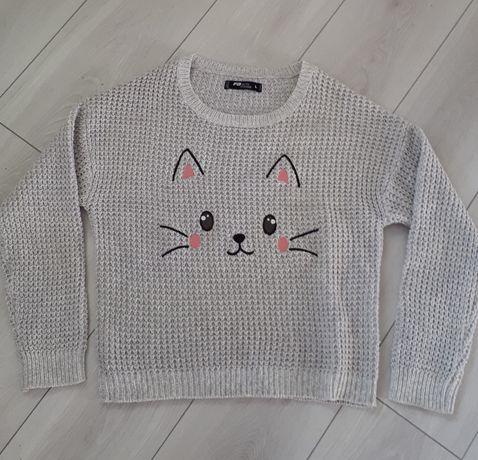 Sweter z motywem kota