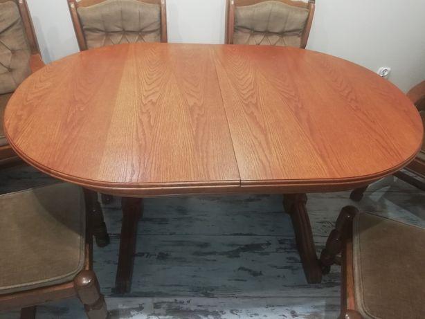Stół i 6 krzeseł DĘBOWE