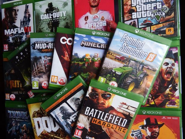 XBOX ONE GRY GTA5 FARMING Wiedźmin RDR2 Battlefield Rage2 Minecraft