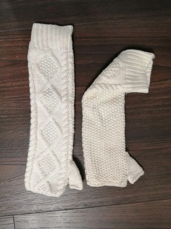Митенки рукавицы перчатки без пальцев