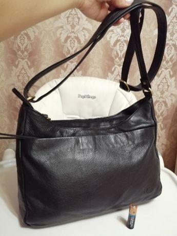 Кожаная добротная сумка Mia