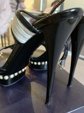 Босоножки туфли брендовые италия  le silla ле сила 36,5р стелька 23см