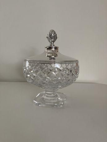 Waza kryształ srebro 925 sterling misa