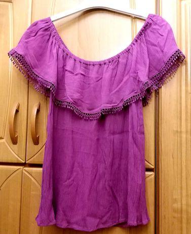 Bluzka Hiszpanka w pięknym kolorze różu firmy Reservet roz 40