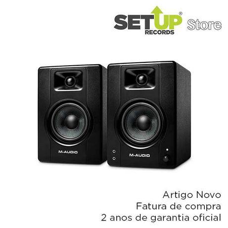 Par monitores Estúdio M-Audio BX4 - NOVO (fatura e 2 anos garantia)