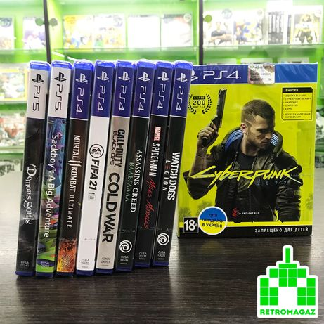 PS4 Игры Cyberpunk Mortal Ultimate Spider Miles Fifa 21 Watch Dogs MK